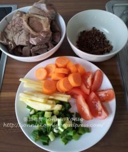 Beef Noodles Ingredients